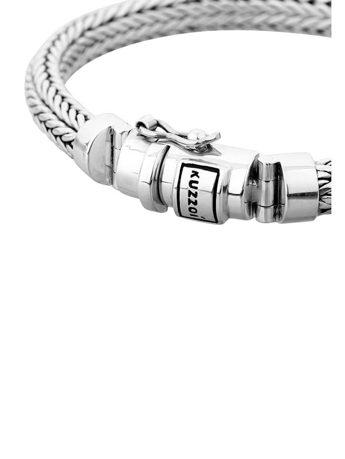 Armband Herren Zopfglieder Kastenverschluss 925 Silber