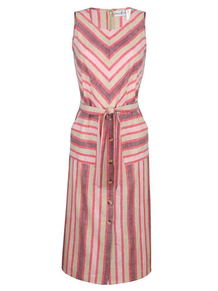 Kleid in Streifenoptik