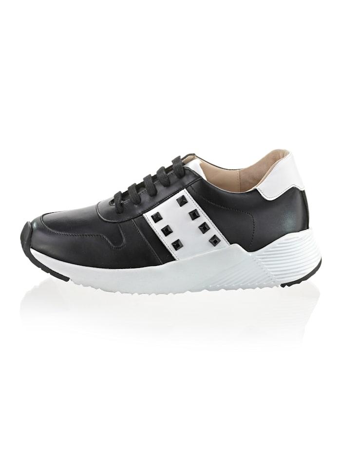 Alba Moda Sneaker im klassischem Farbstil, Weiß/Schwarz