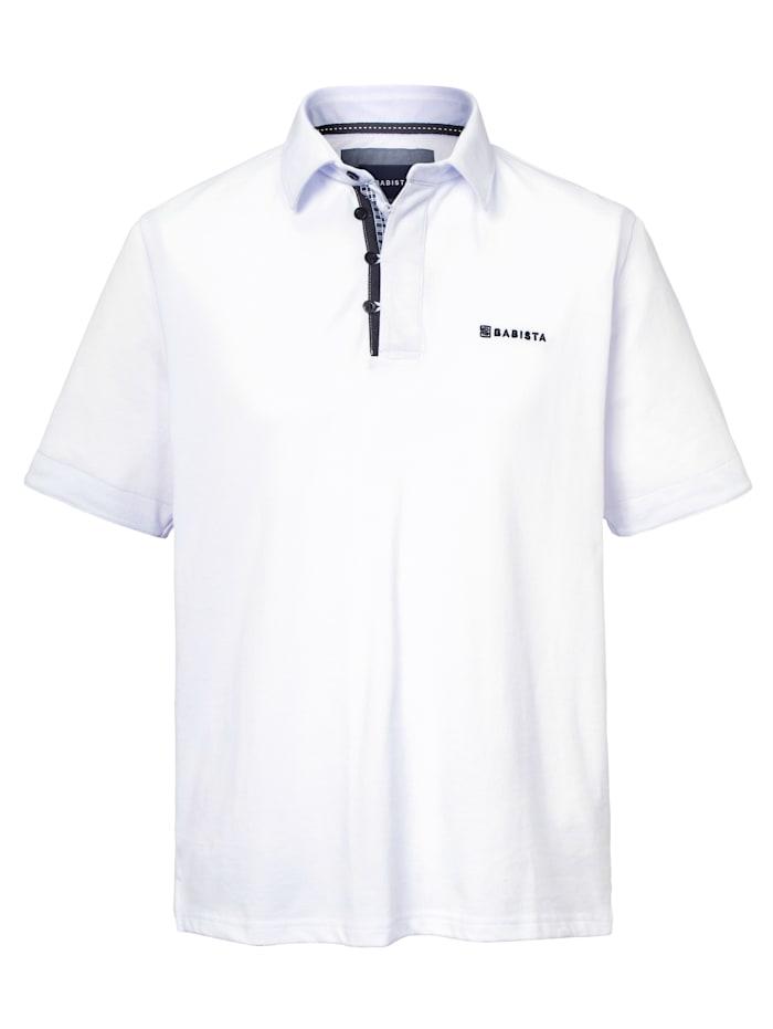 BABISTA Poloshirt met bijzondere knoopsluiting, Wit