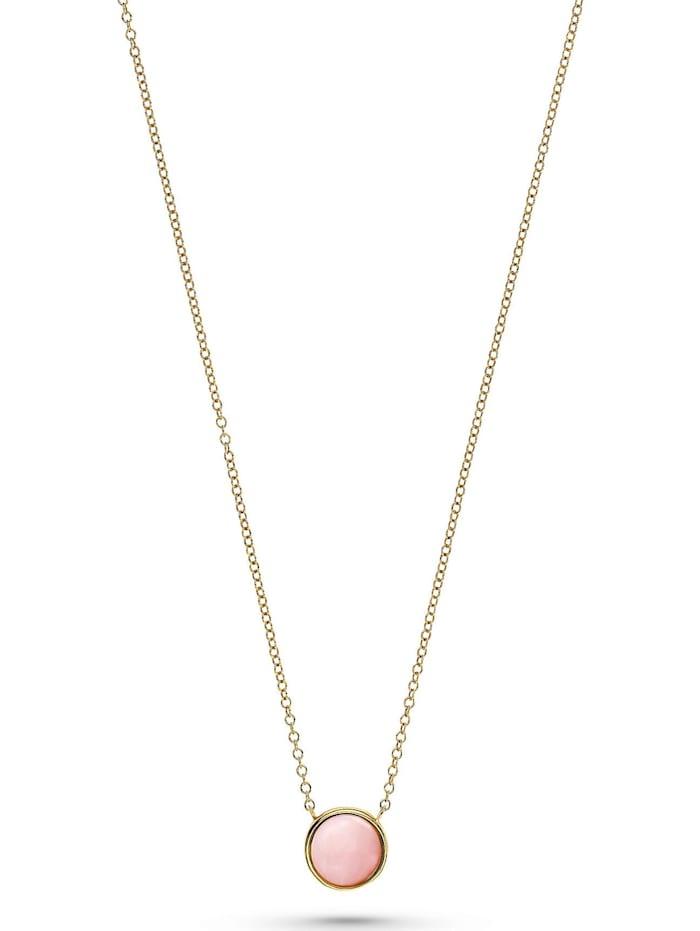 CHRIST GOLD CHRIST Gold Damen-Kette 375er Gelbgold Opal, rosa