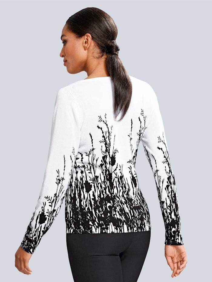 Pullover mit femininem Blütendruck