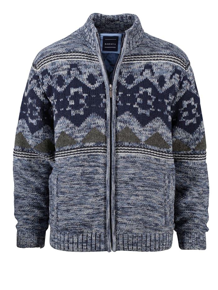 BABISTA Vest met wattering, Blauw/Marine