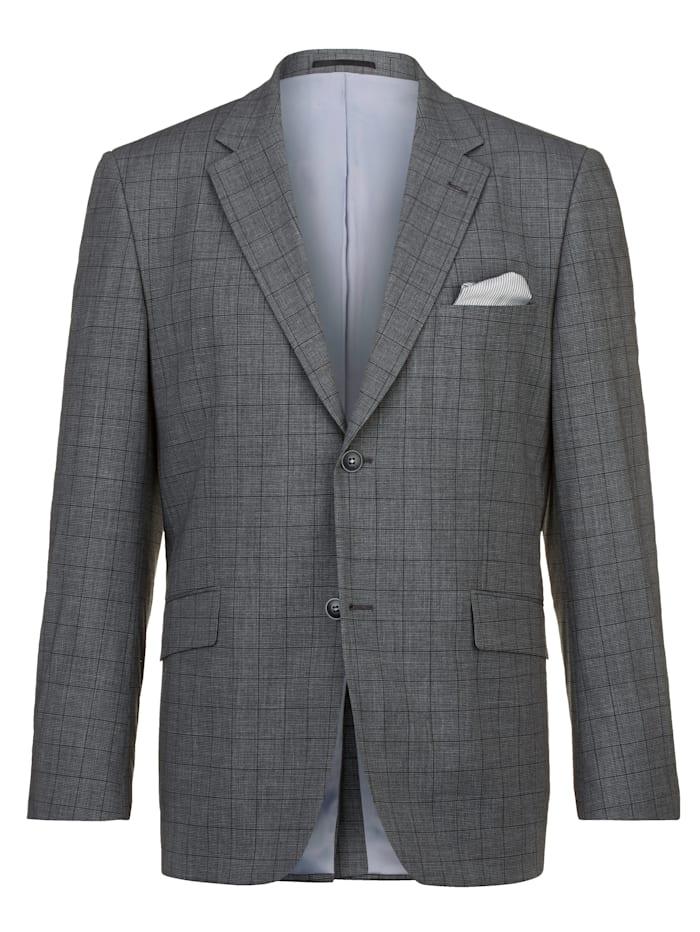 Babista Premium Ruudullinen puvuntakki eurooppalaista laatua, Harmaa