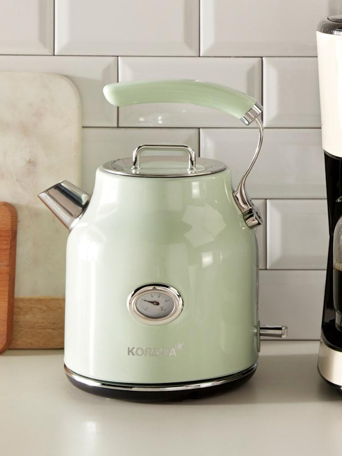 Korona Wasserkocher mit Retro-Temperaturanzeige, Fassungsvermögen 1,7 Liter, Mint