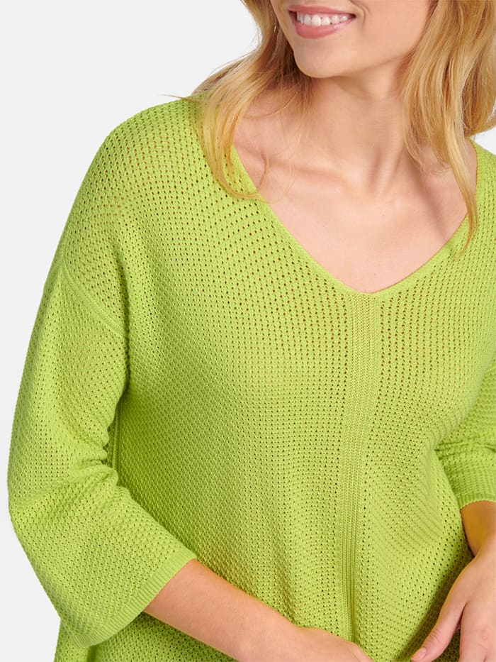 Pullover aus unifarbenem Reiskornmuster