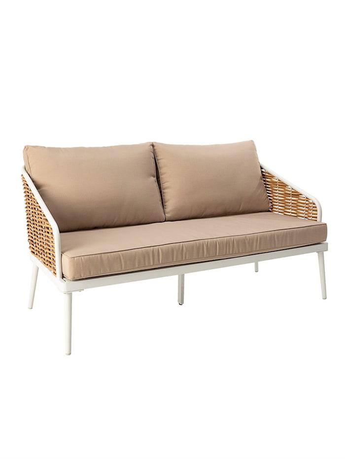 IMPRESSIONEN living Outdoor-Sofa, Natur/Weiß