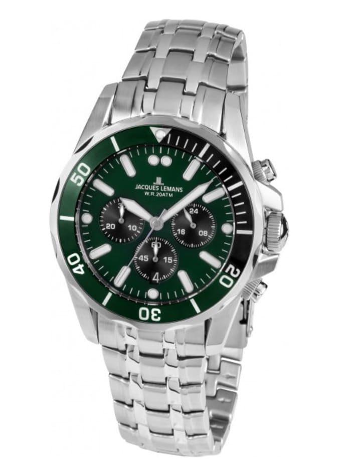 Jacques Lemans Herren-Uhr Chronograph, Grün