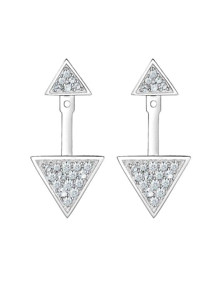 Ohrringe Ear Jacket Geo Swarovski® Kristalle Silber