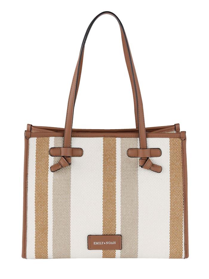 EMILY & NOAH Shopper mit separater kleineren Tasche 2-teilig, cognac/creme-kombi