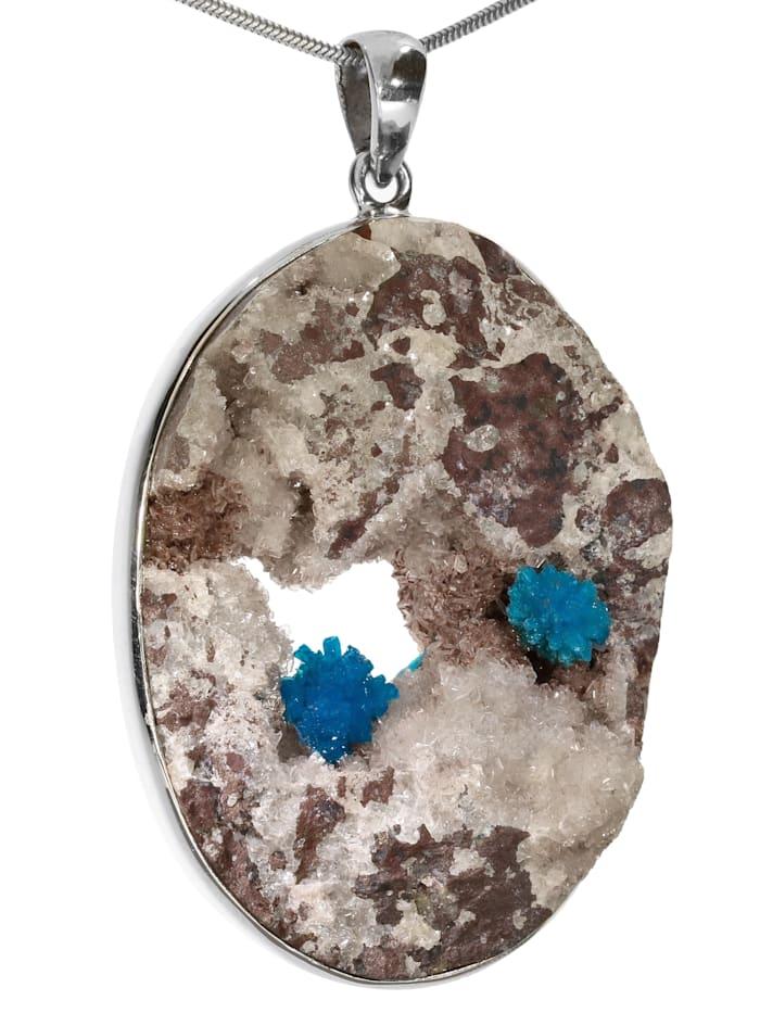 1001 Diamonds Damen Schmuck Edelstein Cavansit Anhänger 925 Silber blau, blau