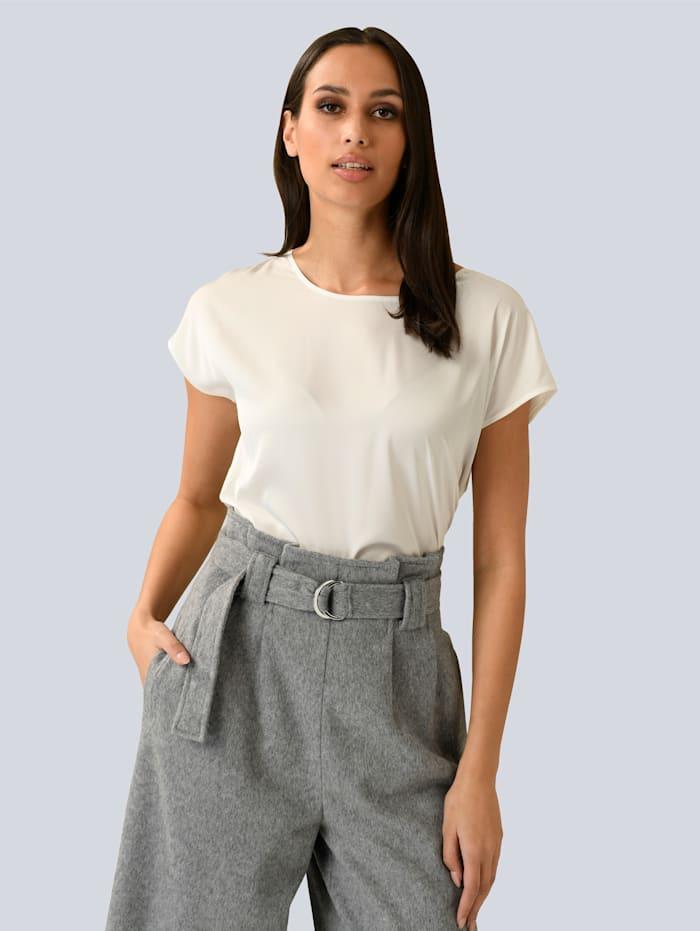 Alba Moda Shirt mit softem Jersey-Rücken, Creme-Weiß