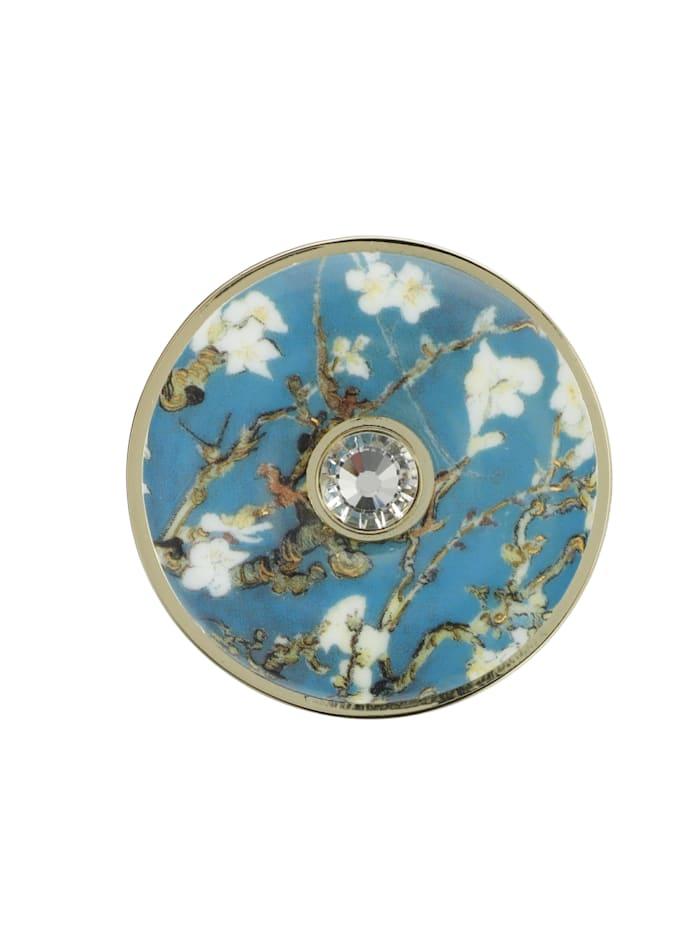 Goebel Brosche Vincent v. Gogh - Mandelbaum blau
