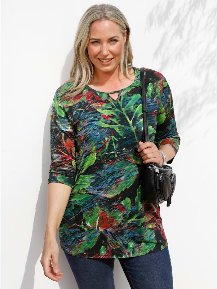 MIAMODA Tričko s kvetinovou potlačou, Multicolor