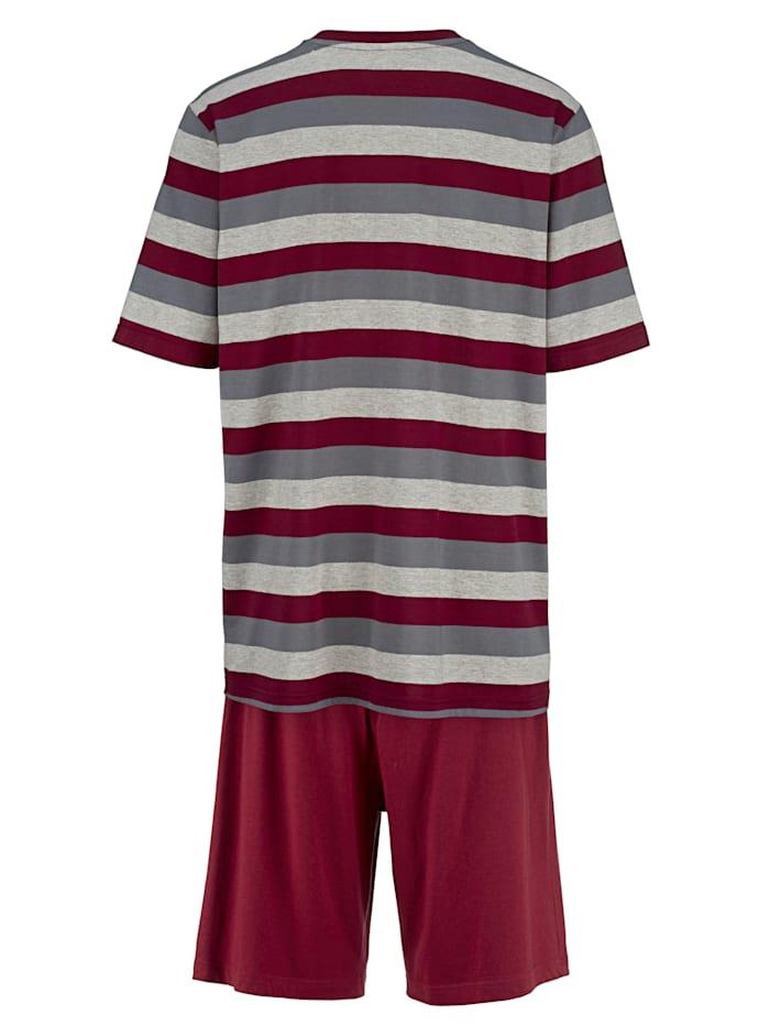 Schlafanzüge mit garngefärbtem Oberteil 2er Pack