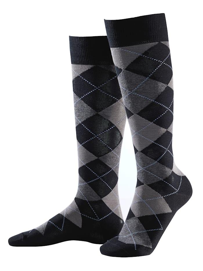 Chaussettes de contention avec compression de 10-12 mmHg