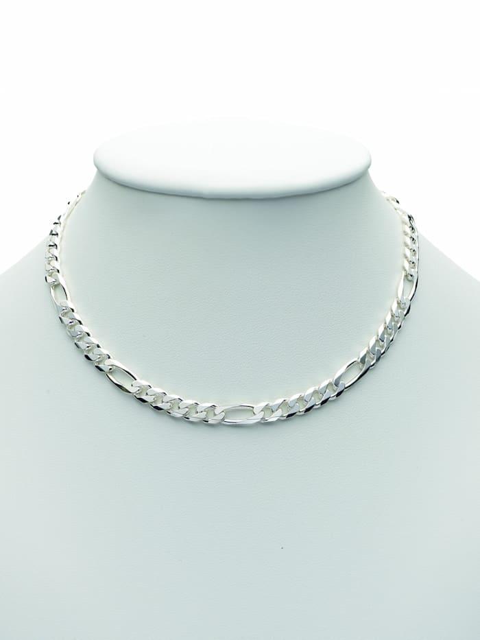1001 Diamonds Damen Silberschmuck 925 Silber Figaro Halskette 45 cm, silber