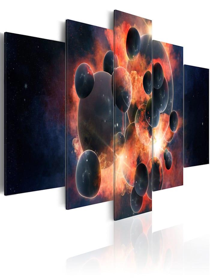 artgeist Wandbild Theorie des Universums, Dunkelblau,Rot,Schwarz