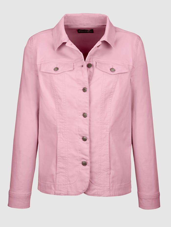 Dress In Denim jacket in a timeless design, Rosé