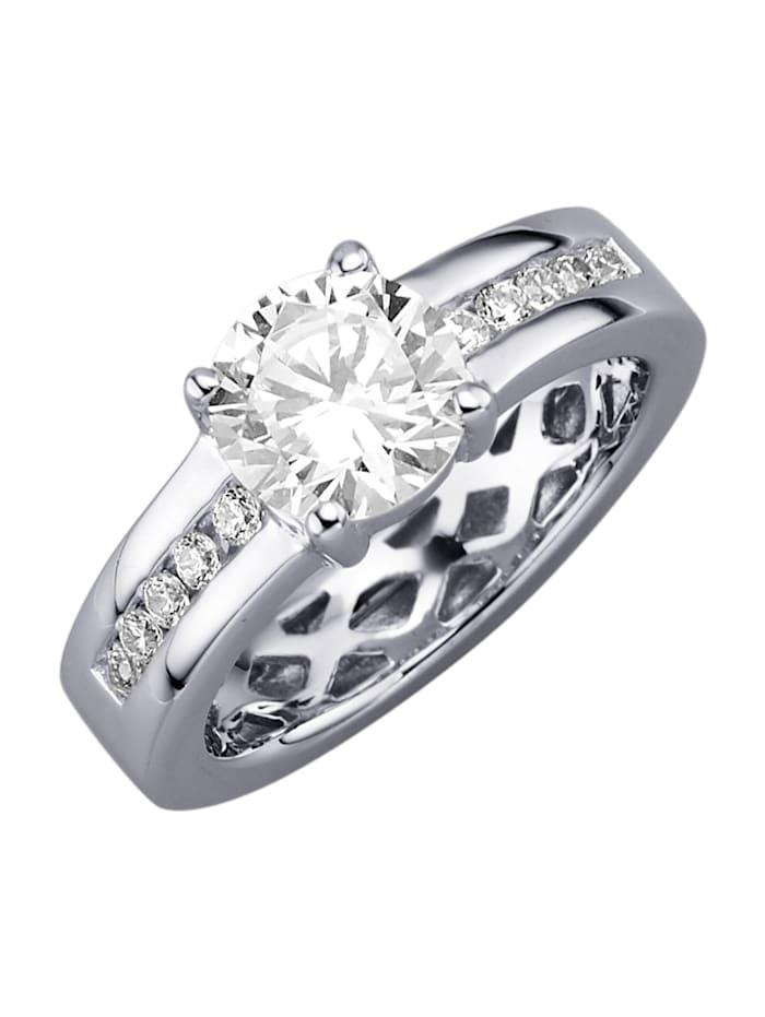 Giorgio Martello Ring med cubic zirconia, Silverfärgad