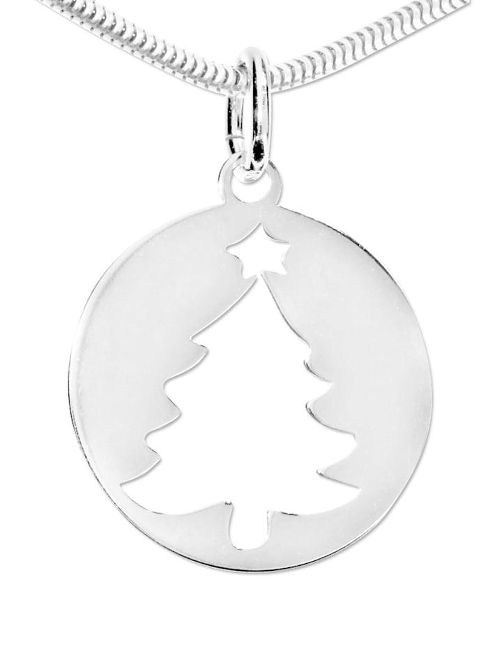 1001 Diamonds Damen Schmuck  Anhänger 925 Silber Weihnachtsbaum, silber