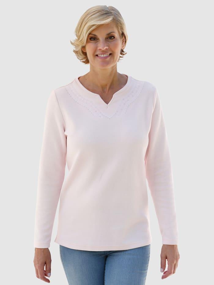 Paola Sweatshirt met mooi borduursel, Roze