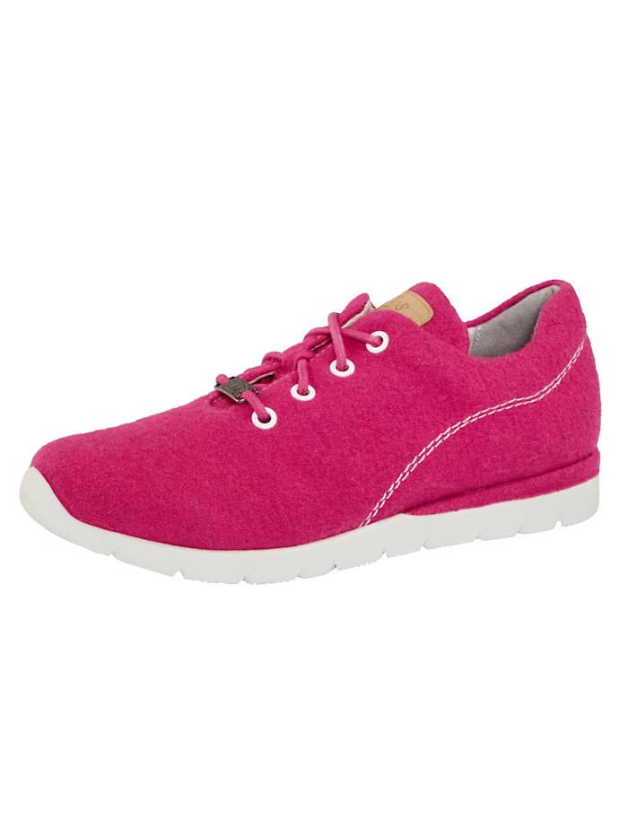 Jana Sneaker van hoogwaardige merinoswol, Pink