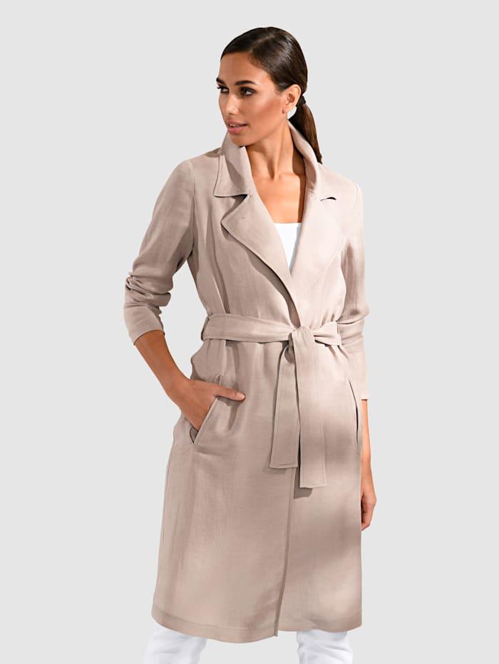 Alba Moda Trenssityylinen takki, Harmaanruskea