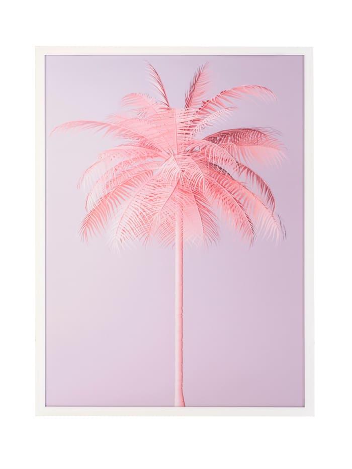IMPRESSIONEN living Acrylbild, Palme, grau/rosé