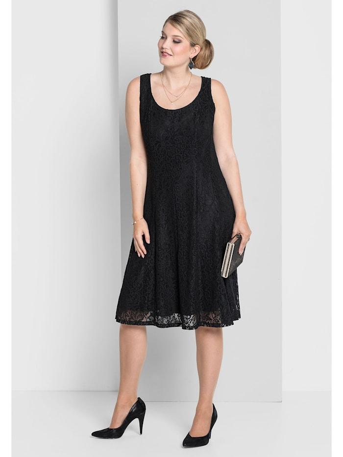 Sheego Sheego Kleid in Bahnenform, schwarz