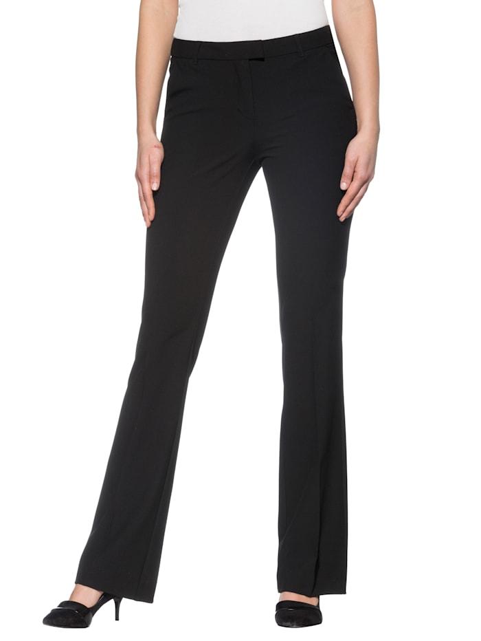 Alba Moda Broek van flatterend stretchmateriaal, Zwart