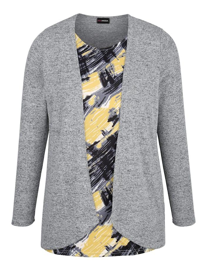 2-in-1-Shirt mit grafischem Druck
