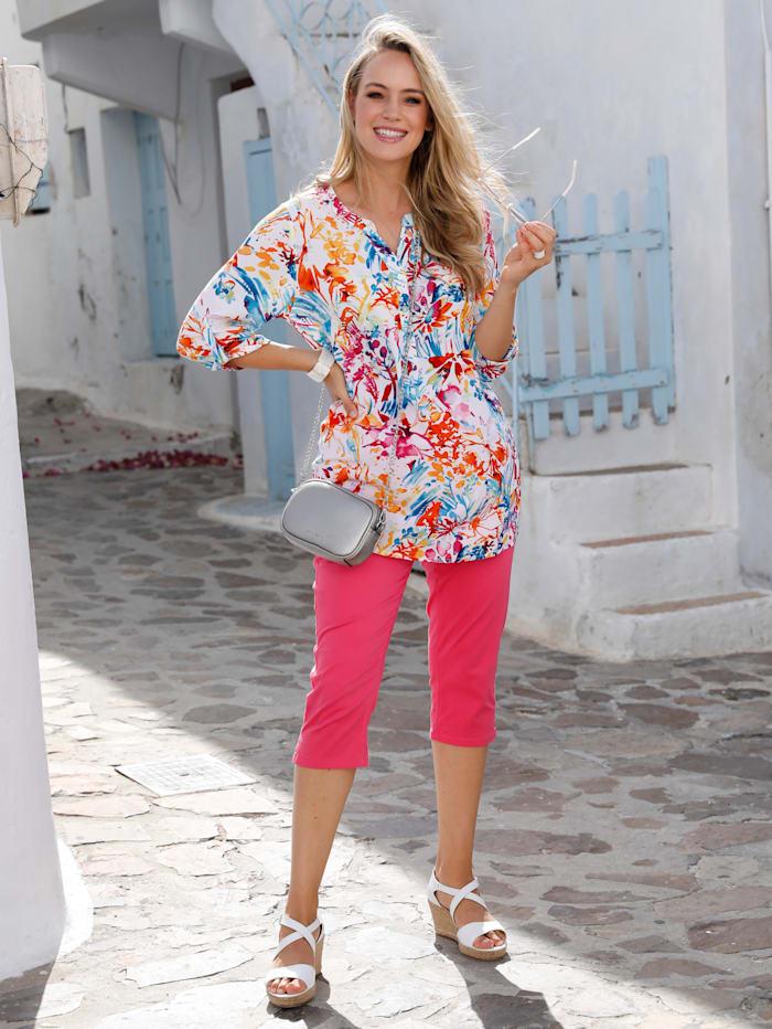 MIAMODA Tunika mit Farbklecksen, Multicolor