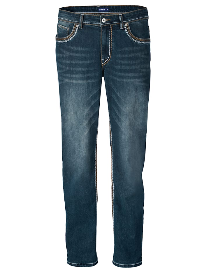 BABISTA Jeans in moderne used look, Blue stone