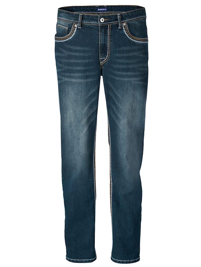 BABISTA Jeans med snygg tvättning, Blue stone