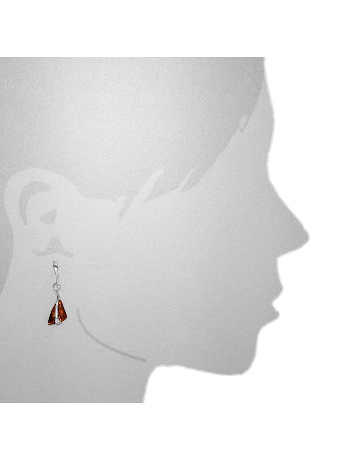 Ohrhänger - Berit - Silber 925/000 - Bernstein