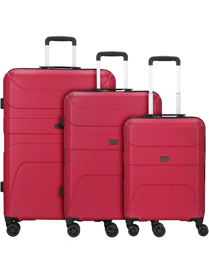 D&N Travel Line 2100 4-Rollen Kofferset 3tlg. 3-teilig, pink