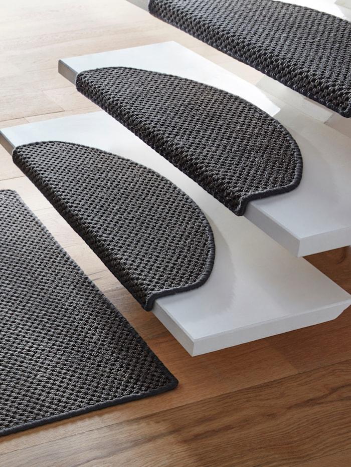 Floordirekt Tapis de couloir et tapis pour marches d'escalier Lucas, Gris