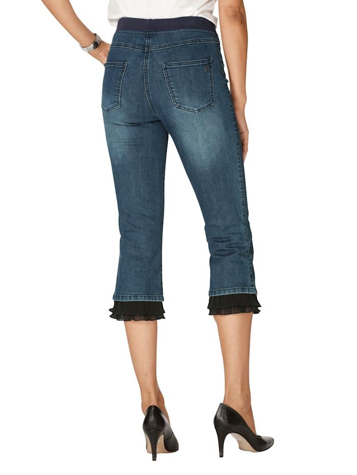 Jeans met plissé aan de zoom