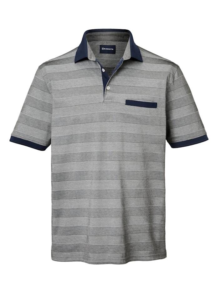 BABISTA Poloshirt Van gemerceriseerd katoen, Zilvergrijs