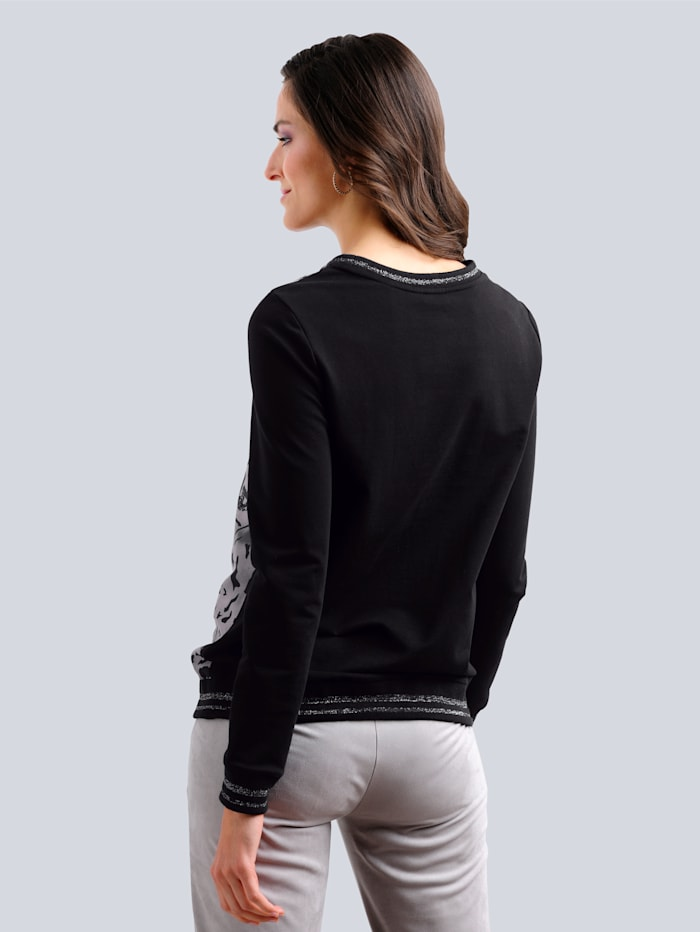 Sweatshirt mit sportiven Abschlüssen