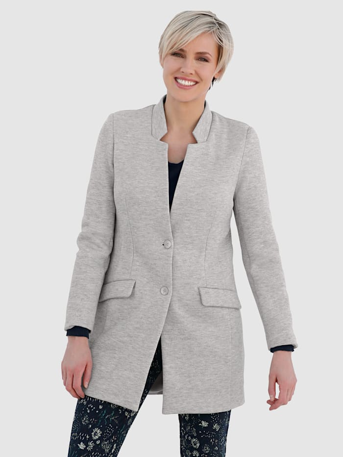 Longline Blazer Made from a cotton-blend fabric