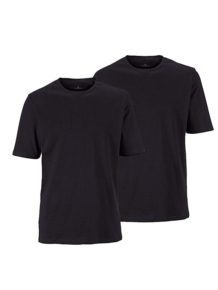 BABISTA T-shirts per 2 stuks met ronde hals, Zwart