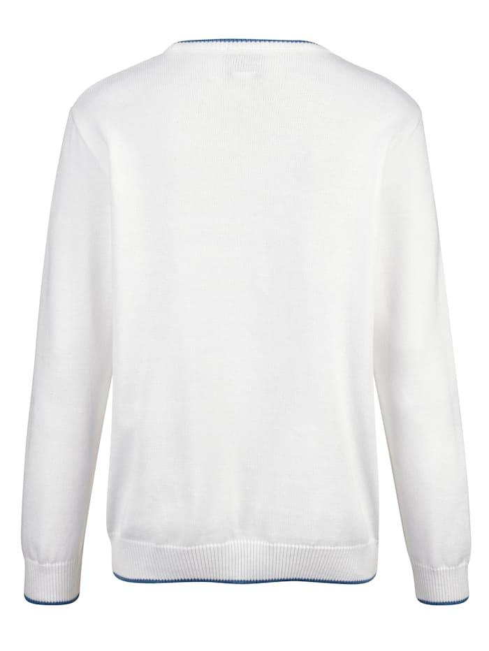 Pullover mit aufwändiger Relief-Verarbeitung