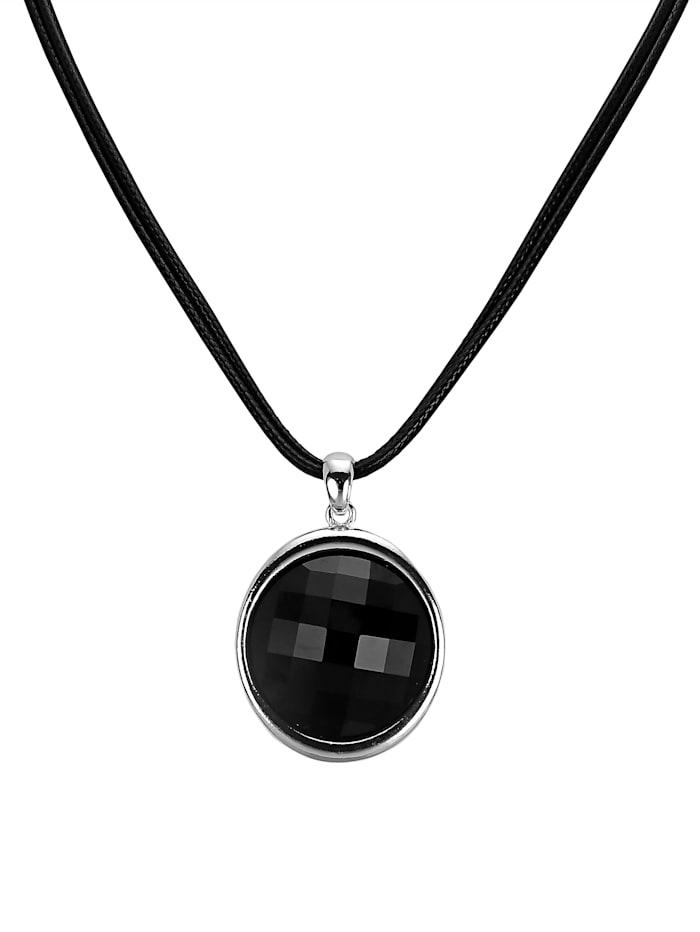 Pendentif et chaîne, Noir