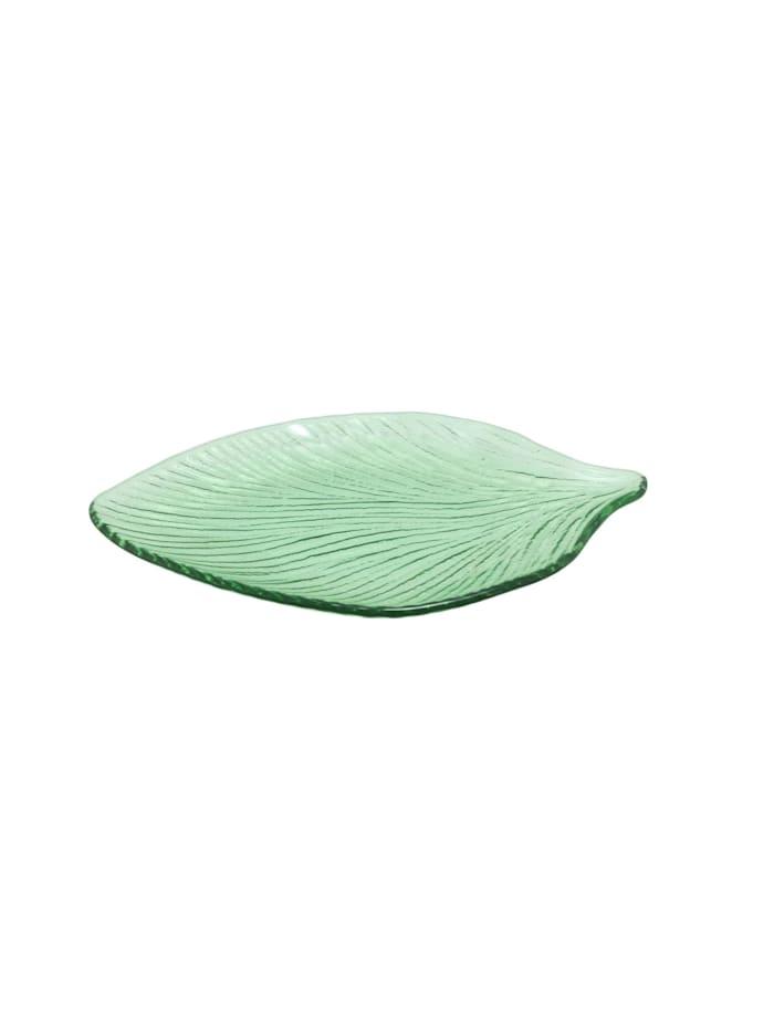 Neuetischkultur Servierplatte Blatt, Grün