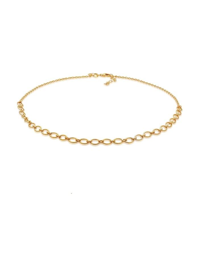 Elli Premium Halskette Basic Gliederkette Blogger 925 Sterling Silber, Gold