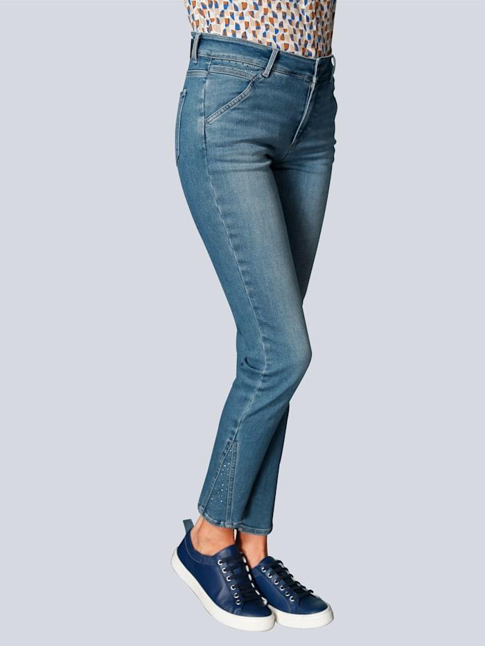 BRAX Jeans mit Hotfixsteinchen, Blue stone