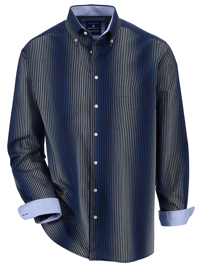 BABISTA Hemd in bügelfreier Qualität, Dunkelblau
