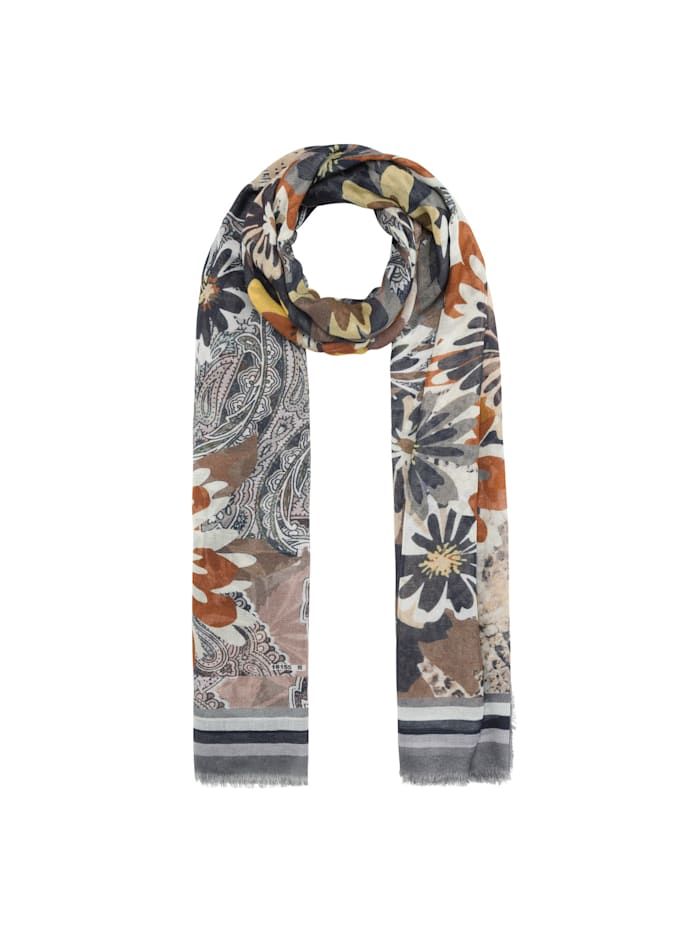 Codello Flower-Schal aus Baumwolle und Modal, camel